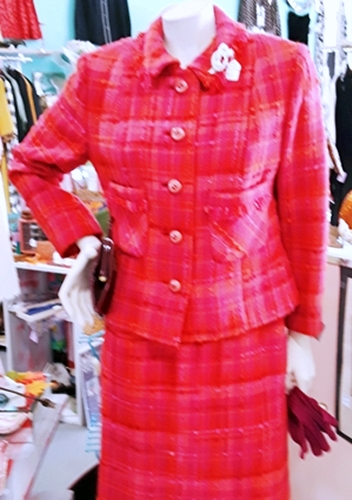 60s-vintage-red pink-suit-plaid-jackie o-anothertimevintageapparel.jpg