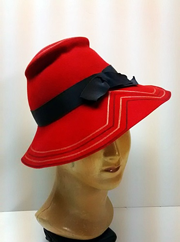 late 30 vintage red hat,anothertimevintageapparel.jpg