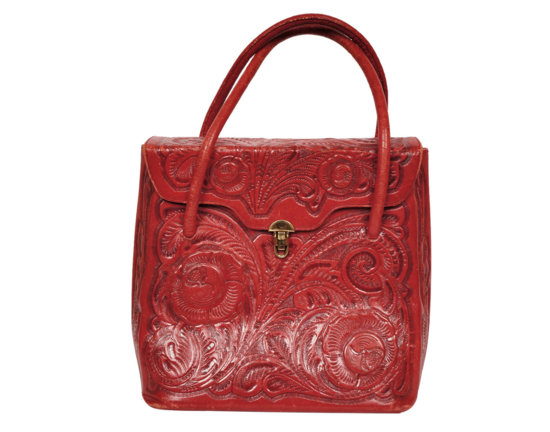 Red Leather Tooled Purse.jpg