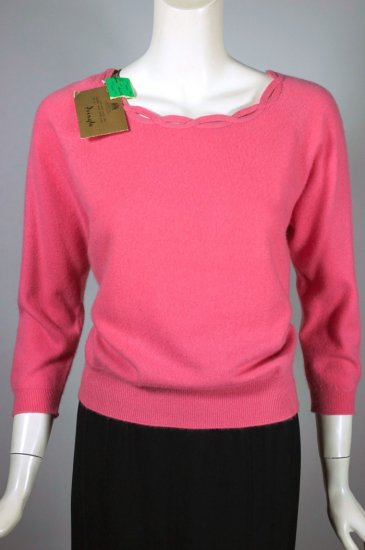 SW188-rose pink Pringle cashmere sweater 1950s M-L deadstock - 1.jpg