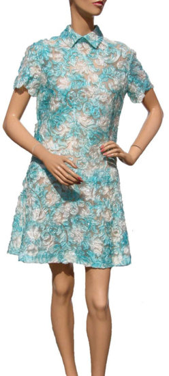 Turquoise and Whitel lacy 60s dress.jpg